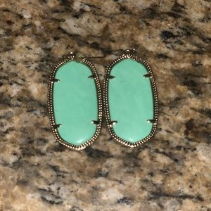 Danielle Mint Green Kendra Scott Earrings!